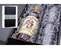 Captain Morgan Spiced Gold 35% 0,7l mit 2 Gläsern im Geschenkkarton
