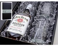Jim Beam Whiskey 40% 0,7l + 2 original Tumbler im Präsentkarton