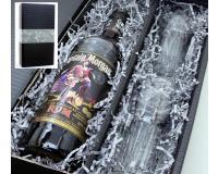Captain Morgan Black Label 40% 0,7l mit 2 Gläsern im Geschenkkarton