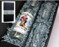 Captain Morgan White Rum 37,5% 0,7l mit 2 Gläsern im Geschenkkarton
