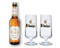 Bitburger 0,33l + 2 Pokale 0,2l