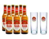 Früh Kölsch 2 Gläser 0,2l + 6 Flaschen 0,33