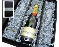 Geschenkkarton Moët&Chandon Imperial 0,75l + 2 Moët Gläser 0,1l
