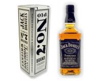 Jack Daniels Whiskey 40% 0,7l in Metalldose silber 2015