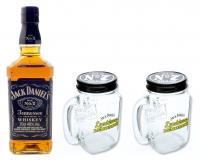 Jack Daniels Whiskey 40% 0,7l + 2 Lynchburg Krüge