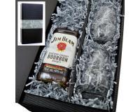 Jim Beam Whiskey 40% 0,7l + 2 Stölzle Gläser  im Präsentkarton