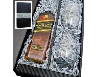 Johnnie Walker Black Label 40% 0,7l + 2 Stölzle Becher in Geschenkkarton