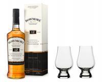 Bowmore Whisky 12y 40% 0,7 Set mit 2 Glencairn Gläser