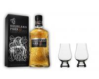 Highland Park Whisky 12y 40% 0,7 Set mit 2 Glencairn Gläser