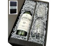 Laphroaig Whisky 10y 40% 0,7l  Stölzle Gläser in Geschenkkarton