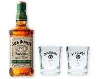 Jack Daniels Rye Whiskey 45% 0,7l mit 2 Tumblern