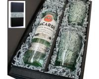 Bacardi weiss 37,5% 0,7l mit 2 Bacardi Bechern in Geschenkkarton