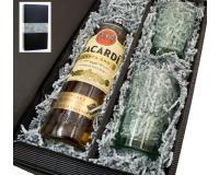 Bacardi gold 37,5% 0,7l mit 2 Bacardi Bechern in Geschenkkarton