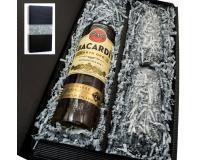 Bacardi gold 37,5% 0,7l mit 2 Stölzle Gläsern in Geschenkkarton