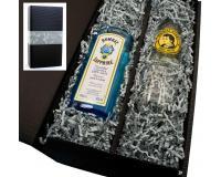 Bombay Saphire + 1 Kelchglas + 1 T.Henry Tonic 0,2l in Geschenkkarton